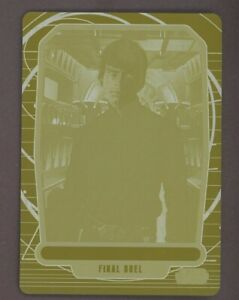2013 Topps Star Wars Galactic Files 2 Luke Skywalker 1/1 Yellow Printing Plate