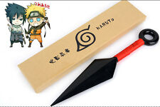 red Naruto Ninja Uzumaki Kunai Throwing Weapon Props Cosplay plastic Knife 10""