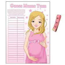 BABY SHOWER GAME - Guess Mums Tum, Blue Boy Pink Girl Unisex Party Mummys Tummy