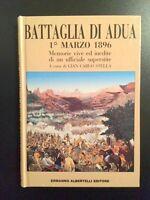 Storia Del Colonialismo - Battaglia di Adua 1° Marzo 1896 - ed. 1991