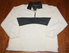 Mens Perry Ellis America Active Fleece Cream Charcoal Grey 1/4 Zip XXL EUC