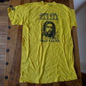 PETER TOSH Dread Alive tour shirt STAFF vintage mint 1981 yellow new york