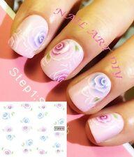 Nail Art Water Transfer Stickers-Decals-Adesivi per Unghie Fiori Bellissimi !!!