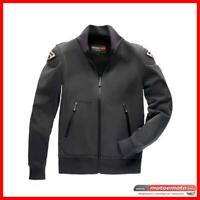 Giacca Moto Blauer Sweatshirt Easy 1.0 Nero Bomber Softshell Protezioni Fashion