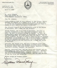 A 1985 letter from Baltimore Mayor William Donald Schaefer