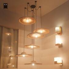 Bamboo Wicker Rattan Hat Chandelier Asian Country Pendant Ceiling Lamp Lighting