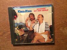 Klaus & Klaus - Schwer ist der Beruf [CD Album] Teldec 1986