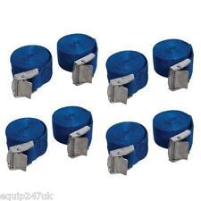 8 BLUE CAM BUCKLE TIE DOWN STRAPS ROOF RACKS TRAILERS 25mm X 2.5m LONG