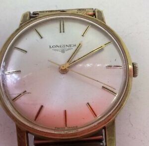 Longines Vintage 1977 Gents Gold Tone Wristwatch Rolled Gold Straps #497