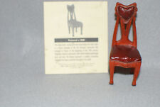New in Box Take a Seat by raine Pearwood c 1900 made from resin / certificate