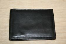 Handcrafted Black Leather Bifold Card Wallet