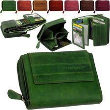 Leather Ladies Wallet Briefcase Green Valley Wallet Purse New