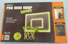 Sklz Pro Mini Basketball Hoop with Ball Glow in the Dark 18 x 12 inches Sealed
