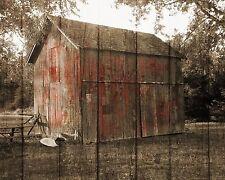 Barn Decor, Rustic Country Farmhouse Wall Art, Red Brown Rustic Home Decor
