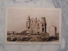 Ancienne carte postale Quiberon Château Turpault à la pointe de Bay er Lan
