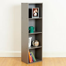 4 Tier Wooden Grey Cube Bookcase Storage Display Unit Modular Shelving/Shelves