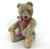 Steiff Original Teddy Bear Caramel Mohair Plush 35cm 14in 1960s no ID felt holes