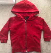 RALPH LAUREN Boys Hooded Sweatshirt Jacket 18m