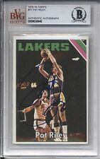 1975-76 Topps PAT RILEY #71 Autograph BGS Authentic Signed Auto