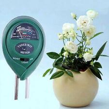 3 in 1 Digital Ph Tester Sunlight Soil Moisture Meter Detector Plant Garden New