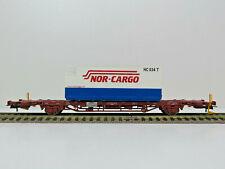 Containerwagen Typ Lgns42, CargoNet,Nor-Cargo,NMJ Topline HO,507.106, OVP,NEU