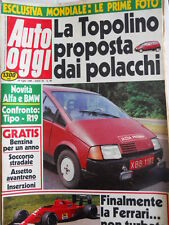 Auto OGGI n°86 1988 Novità Alfa e BMW - Poster Pantera De Tomaso  [Q200]