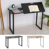 HOMCOM Computer Table with Small Adjustable Angle Tabletop Home Office Desk