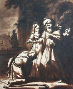 Johann Alexander David Friedrich (1744-1793) Zeichnung, Rückkehr verlorener Sohn