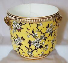 Minton vintage Victorian Aethetic Period antique yellow ice bucket jardinaire