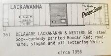 LMH C-D-S CDS 361 DELAWARE LACKAWANNA Western DL&W 50' Steel Boxcar PHOEBE SNOW