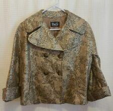 DOLCE & GABBANA D&G Gold Floral Tapestry Suit Jacket Women's Sz 40