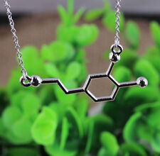 Popular Molecular Chemical Formula Geek Science Student Pendant Necklace Chain