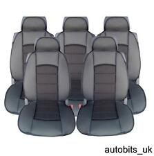 FULL SET 5X BLACK PREMIUM COMFORT PADDED SEAT COVERS 5 SEATER CITROEN C4 PICASSO