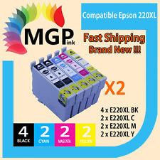 10x Ink Cartridge T220 for Epson WorkForce WF-2630 WF-2650 WF-2660 Printer