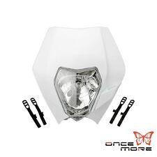 For Ktm Motocross Dirtbike Headlight Headllamp Fairing Sxf Xcf 250 White