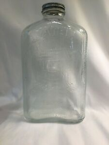 Vintage Glass Refrigerator Water Bottle Jug Mid Century