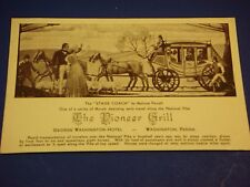 Pioneer Grill Stage Coach George Washington Hotel PA Vintage Postcard PC6
