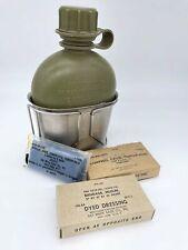 More details for original vietnam war water bottle, cup and bandages