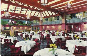 SPOKANE, WASHINGTON WA POSTCARD, Silver Grill Dining Room, Hotel Spokane