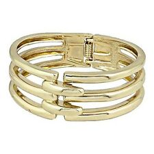 Gold Designer Bracelet Bangle Cuff Stainless Steel Womens Wrist