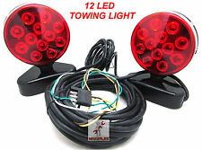 LED Magnetic 12v Trailer Towing Light Kit For Camper Boat Truck Towing