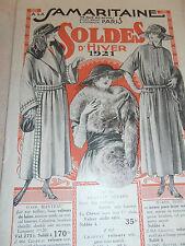catalogue Samaritaine soldes d'hiver 1921 mode