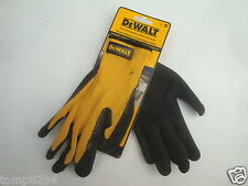 DEWALT LATEX TEXTURED RUBBER COATED GRIPPER GLOVES SIZE 10 DPG70L