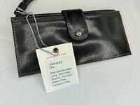 Hobo International Pipa Vintage Leather Wristlet Wallet in Black