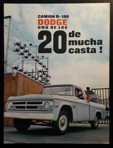 Dodge Camion D-100 Pick-Up Leaflet / Brochure 1970