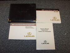 2001 Lexus ES300 Sedan Owner Owner's Operator User Guide Manual Book 3.0L V6