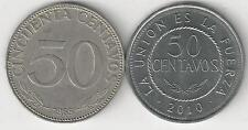 2 DIFFERENT 50 CENTAVO COINS from BOLIVIA - 1965 & 2010 (2 TYPES)