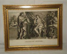 """gravure à l'eau forte de """"Virgile et Auguste"""", encadré"""