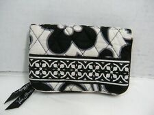 Vera Bradley Night & Day Black & White Floral Small Clip on Wallet #H