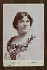 Julia Depoix Actrice Théâtre Photo Cabinet card Numa Blanc fils Cannes